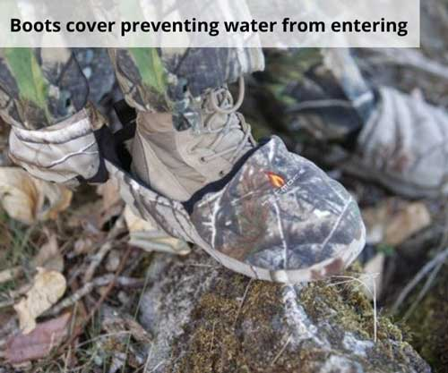 Boots cover preventing water from entering