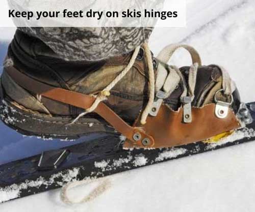 Keep your feet dry on skis hinges