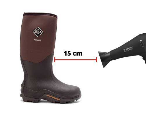 Hairdryer to make your boots wider