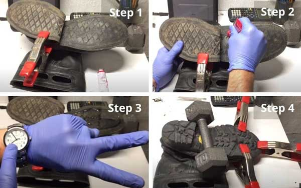 Repairing a separated sole