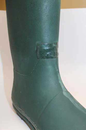 Repairing rubber boots