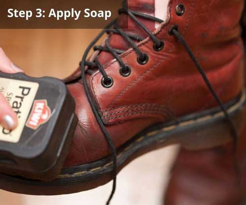 Apply-Soap-leather-boots